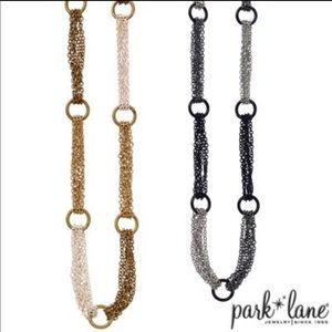 Park Lane Black & Silver Necklace